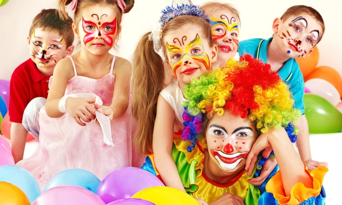 kids with facepaints